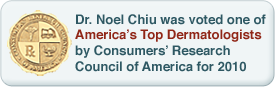 Dr. Chiu was voted one of America's Top Dermatologists by Consumers' Research Council of America for 2010